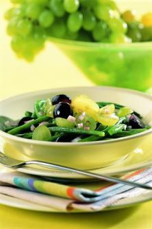 Salade de haricot vert aux raisins