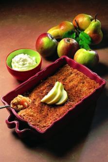 Crumble aux pommes et aux poires
