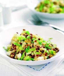 Salade de quinoa, lentille et feta