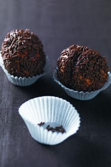 Truffes meringuées au chocolat