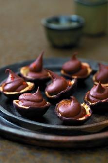 Coupelles à la mousse au chocolat pimentée