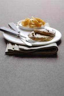 Escalopes de foie gras & mousse à la mangue