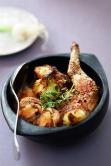 Cocotte de lapin aux oignons