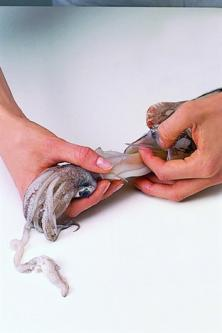 Préparer une seiche (ou un calmar)