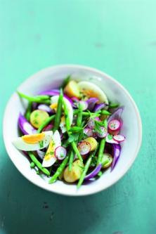 Salade de rattes et de haricots verts
