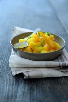 Ananas poêlé à l'estragon