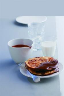 Pancakes à la banane et au chocolat