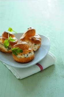 Choux au crabe et à la coriandre