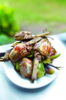 Artichauts poivrades aux anchois