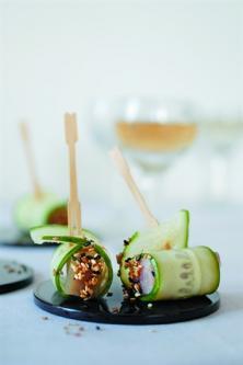 Bouchées de thon et concombre
