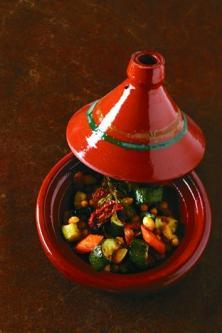 Tajine de légumes, amandes et épices