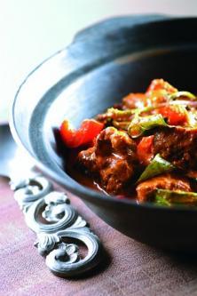 Curry d'agneau au basilic thaï