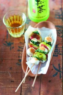 Figues et mozzarella, huile au basilic