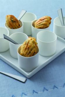 Madeleines au jambon et à la pistache