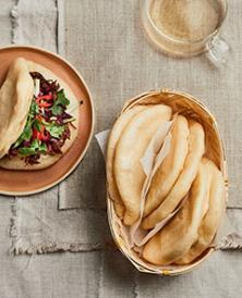 Petits pains bao cuits à la vapeur