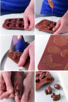 Préparer des fritures en chocolat