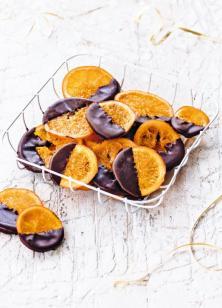 Oranges confites au chocolat