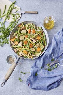 Poêlée de légumes du potager