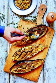 Caviar d'aubergine au barbecue