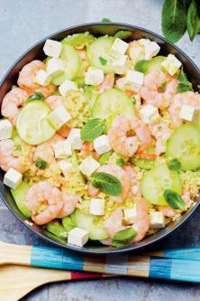 Salade de boulgour aux crevettes