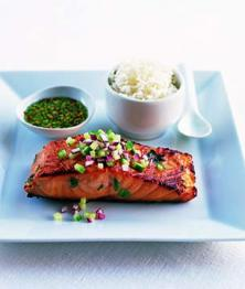 Saumon thai mariné