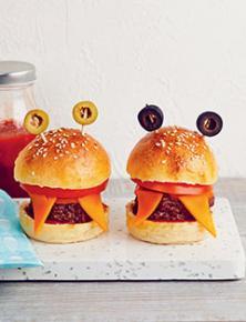 Monster-burgers au cheddar