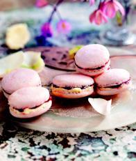 Macarons framboise et chocolat blanc