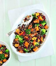 Riz sauvage aux légumes