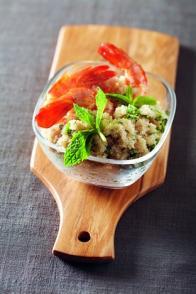 Salade de gambas à l'amarante