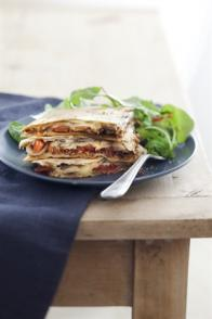 Quesadillas de bœuf à la tomate et au fromage