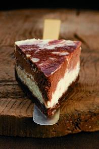 Cheesecake marbré vanille-chocolat