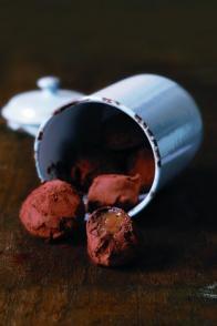 Truffes chocolat, caramel