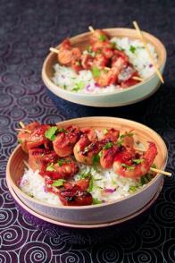 Crevettes au chutney comme à Bombay