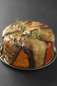 Charlotte de légumes grillés à la feta