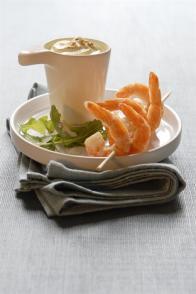 Crevettes grillées & chantilly au curry