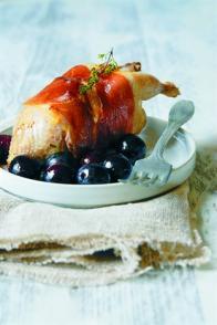 Cailles aux raisins noirs