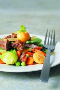 Wok d'agneau aux légumes croquants