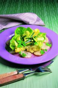 Salade de courgettes aux Saint-Jacques