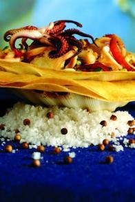 Tartelette de la mer au gingembre