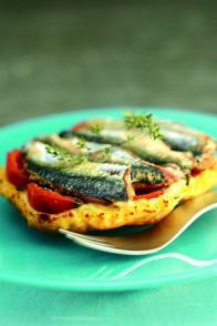 Mini-tatin de sardine et de tomate