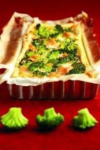 Tarte au saumon et au brocoli