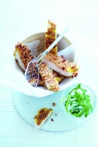 Escalopes de poulet panées aux céréales