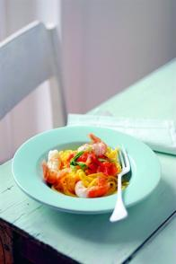 Pâtes fraîches aux langoustines et à l'estragon