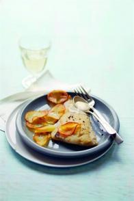 Merlan au gingembre et ses pétales de pomme de terre