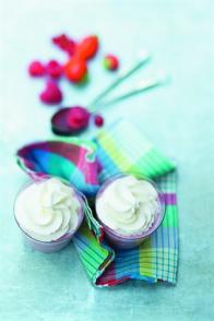 Crèmes mousseuses aux fruits rouges