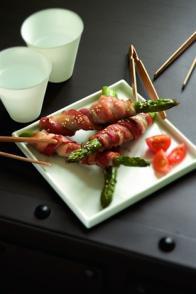 Torsades d'asperges au bacon
