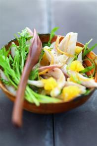 Salade de raie et vinaigrette aux agrumes