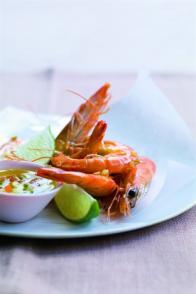 Crevettes sautées à l'ail et au gingembre