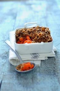 Crumble salé carottes-noisettes