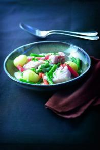 Blanquette de merlu aux petits légumes